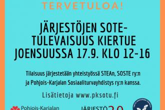 Järjestöjen sote-tulevaisuus -kiertue Joensuussa 17.9.