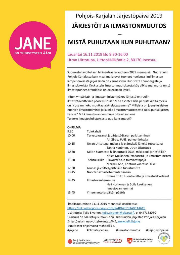 Järjestöpäivä 2019 ohjelma