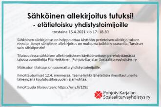 Sähköinen allekirjoitus tutuksi! -etätietoisku 15.4.