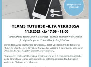 Teams tutuksi! -ilta verkossa 11.5.2021