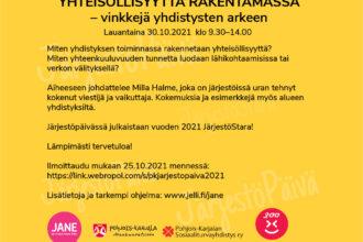 Pohjois-Karjalan Järjestöpäivän tapahtuma 30.10